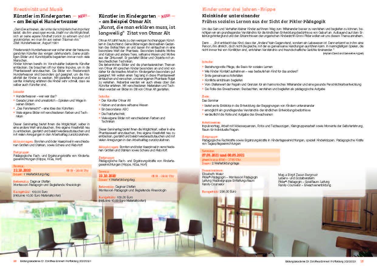 10 Kurs-Programm 2020-2021