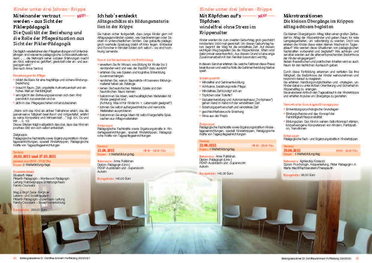 11 Kurs-Programm 2020-2021