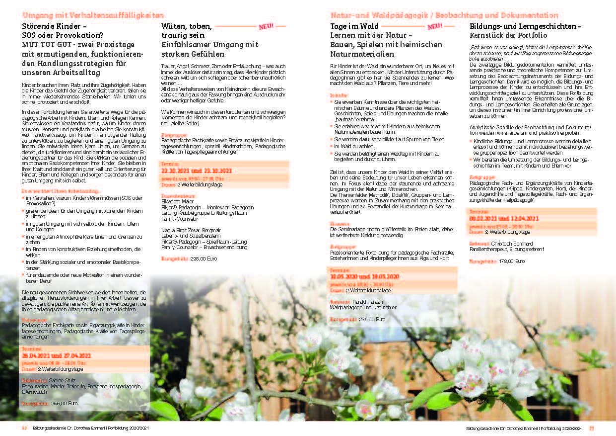 12 Kurs-Programm 2020-2021