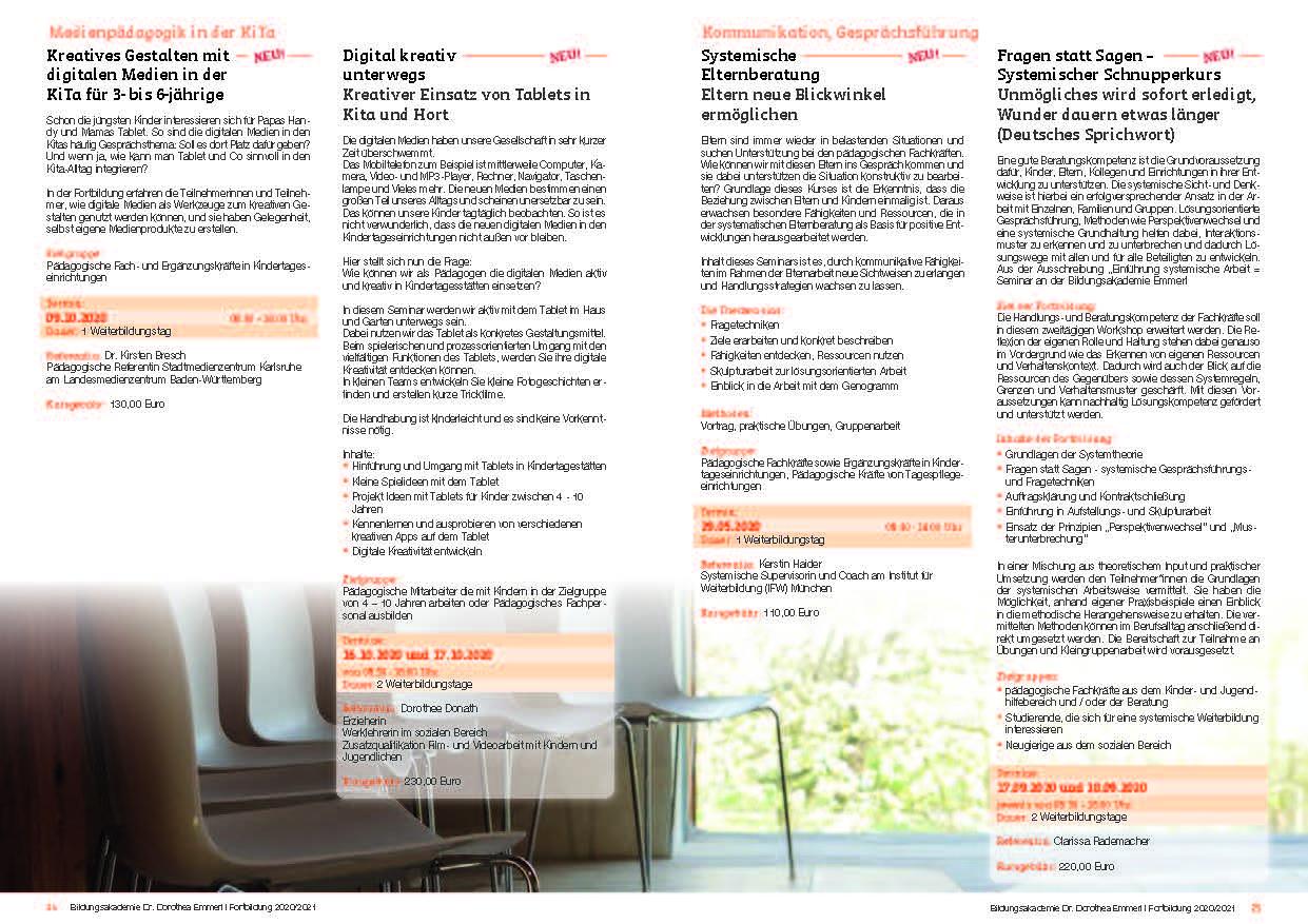 13 Kurs-Programm 2020-2021