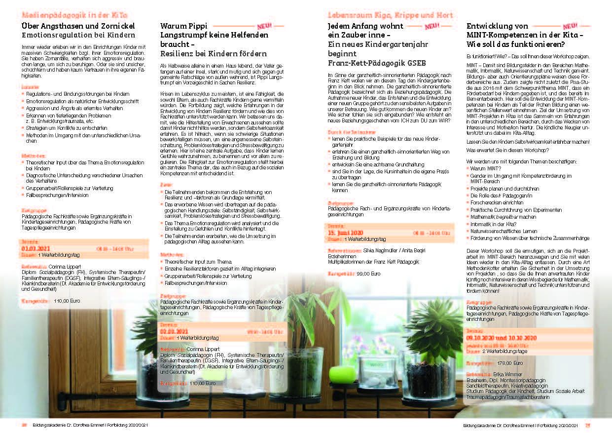15 Kurs-Programm 2020-2021