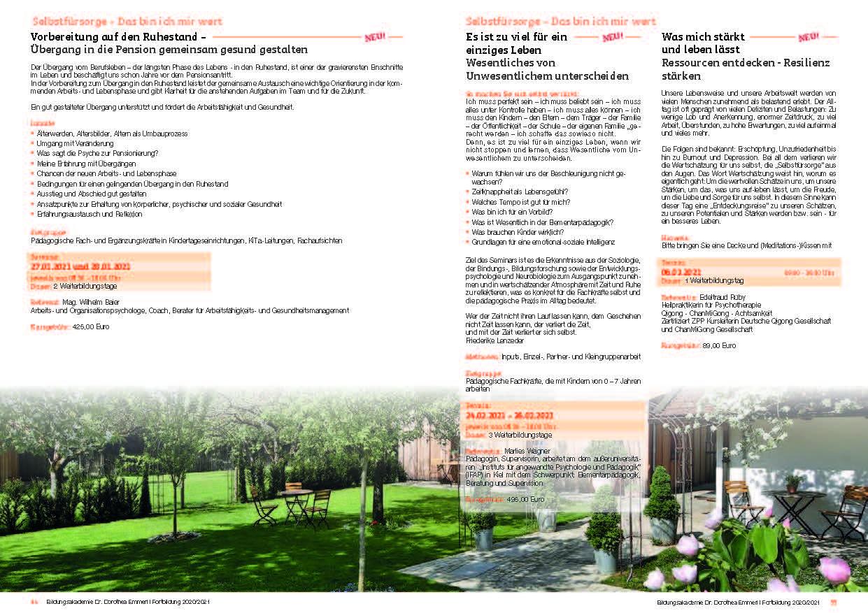 18 Kurs-Programm 2020-2021