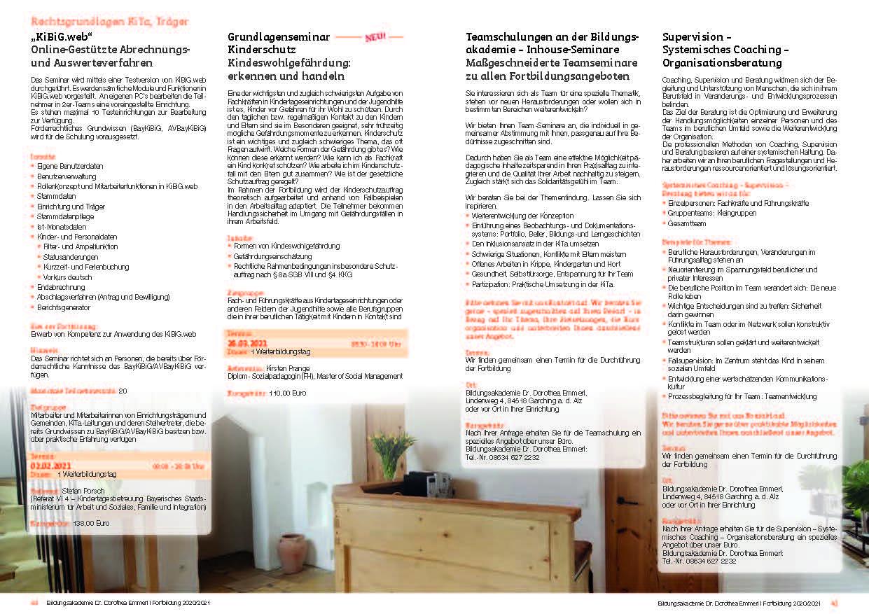 21 Kurs-Programm 2020-2021